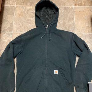 Carhartt Sherpa Hoodie Sweatshirt, size small
